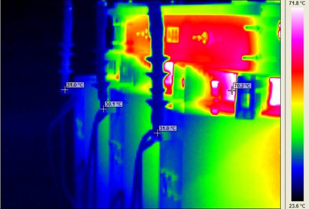 θερμογραφηση μετασχηματιστής μεσης τασης
